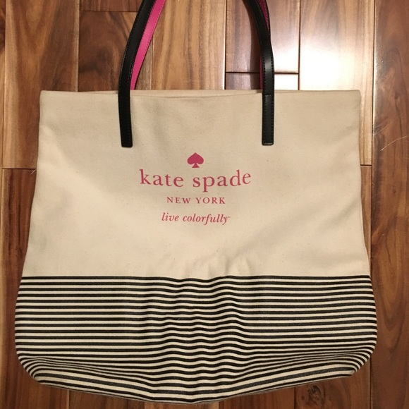 kate spade Handbags - Kate Spade Live Colorfully Striped Canvas Tote
